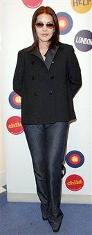 Priscilla Presley during Priscilla Presley Visits Johnny Vaughan's Capital FM Breakfast Show - April 4, 2006 at Capital FM Studios in London, Great Britain.