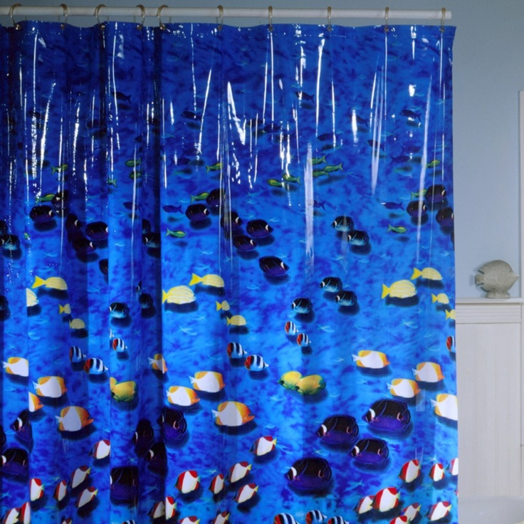 17 best images about tropical fish on pinterest fish for Tropical fish shower curtain