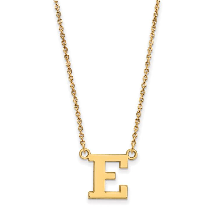 10ky LogoArt Eastern Michigan University Small Pendant with Necklace