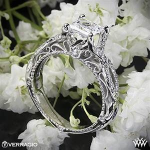 Would like a smaller diomond. But beautiful designVerragio Pave Twist Diamond Engagement Ring