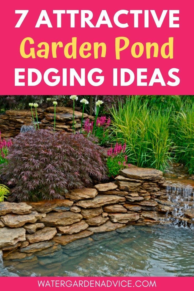 7 Creative Pond Edging Ideas Fish Pond Gardens Pond Landscaping Pond Water Features
