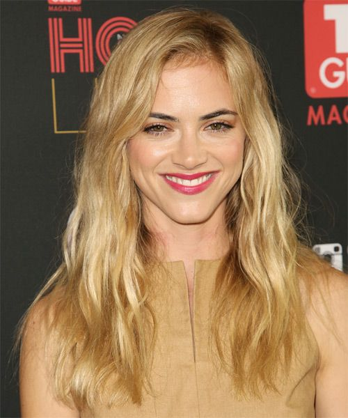Emily Wickersham Hairstyle - Casual Long Straight. Click on the image to try on this hairstyle and view styling steps!