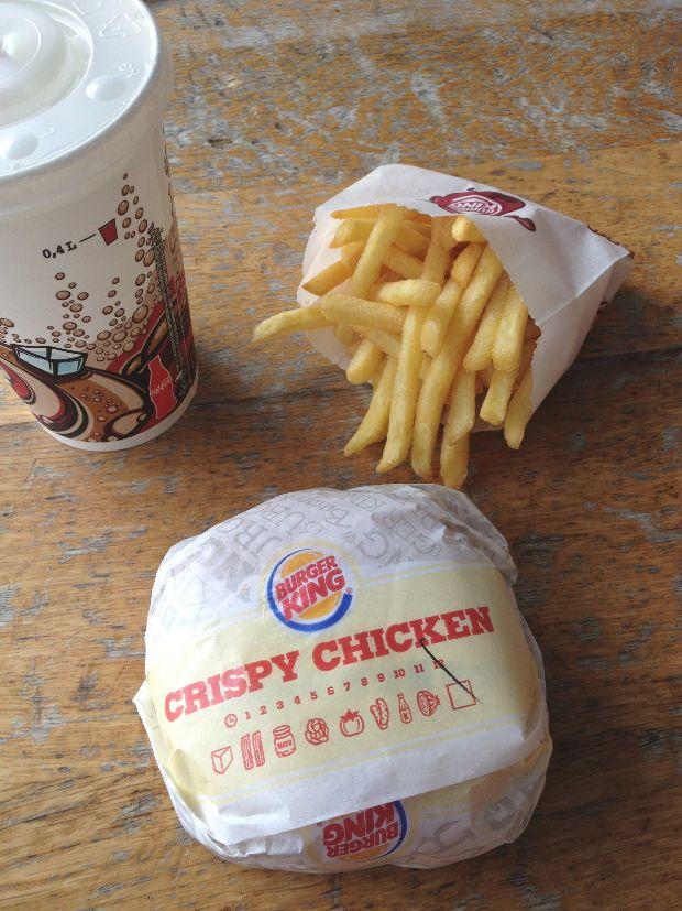 Burger King Genève - Crispy Chicken Sandwich, Fries, Drink