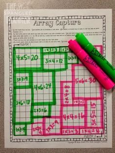 Teach arrays like area, but with rows first: make area a cinch for later