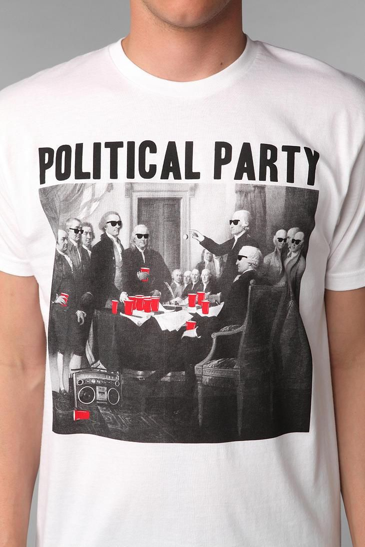 Black t shirt urban outfitters - Riot Society Political Party Tee Urbanoutfitters