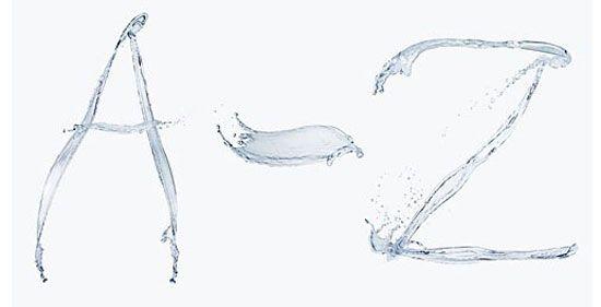 water alphabet by biwa inc photo studio