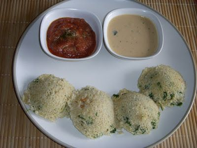 Gita's Kitchen - A blog for Indian diabetic recipes and healthy recipes: OATS AND CRACKED WHEAT RAVA IDLI