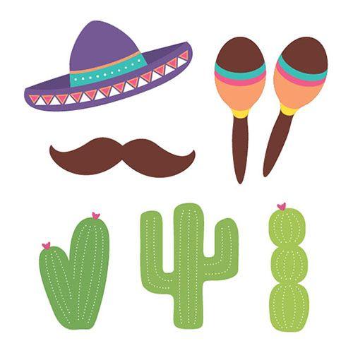#Mexican or Cinco de Mayo party photo booth props - DIY printable! #photobooth #props #cincodemayo