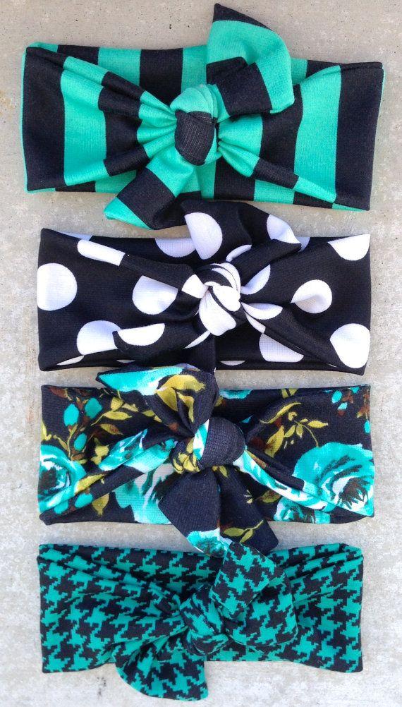 LITTLEMISSDESSA Teal Houndstooth Handmade by Littlemissdessa, $24.00