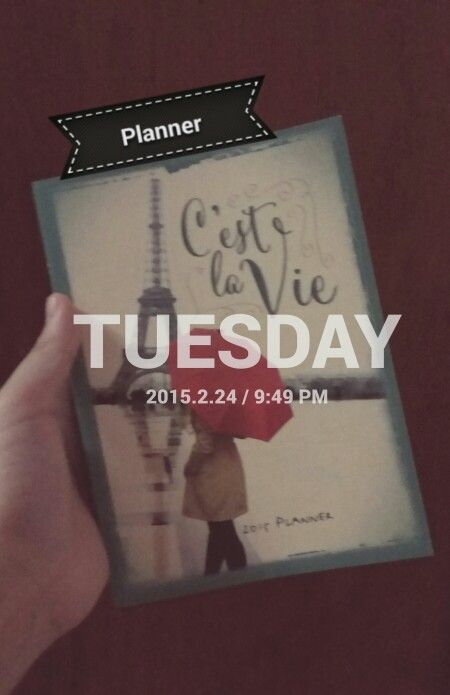 Planner day 1, tuesday