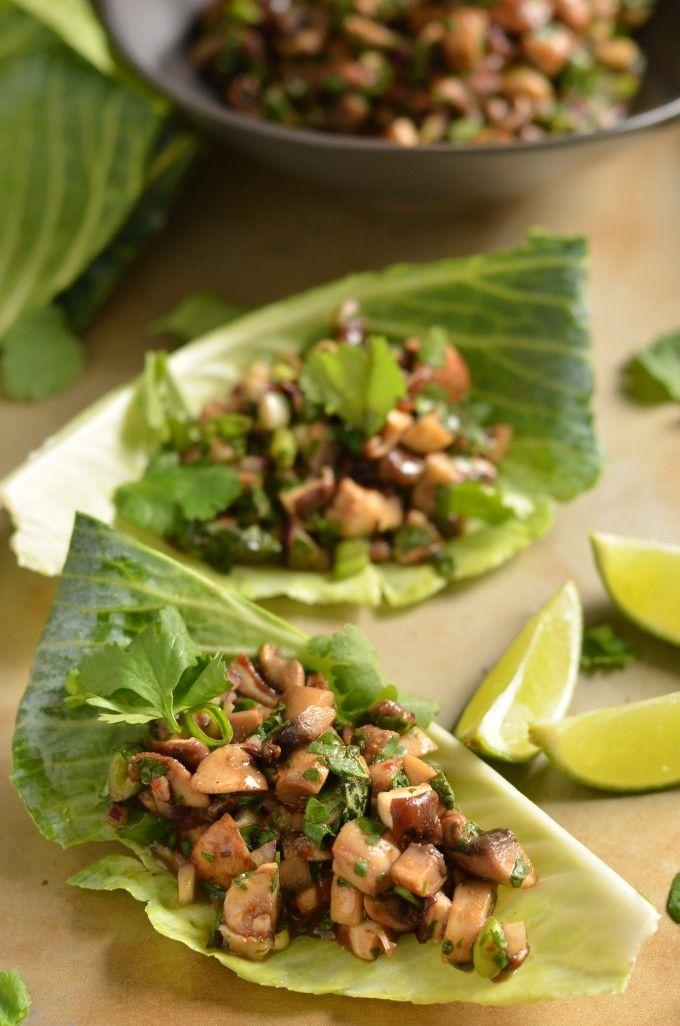 Mushroom Larb (Thai Mushroom Lettuce Wraps)