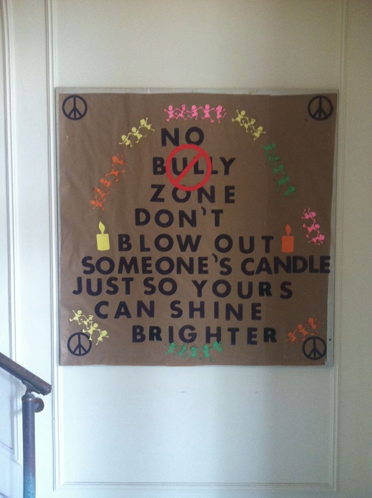 Anti-bullying month bulletin board