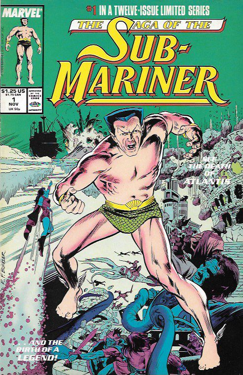 A Legend A-Borning __script by Roy Thomas and Dann Thomas, pencils by Rich Buckler , Cover art by Rich Buckler , The Story ...retells the origin of the Sub-Mariner. Subby, Bill, and Me: A Personal Vie