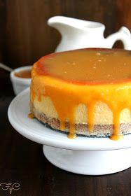 Frambuesa y Caramelo: Cheesecake de chocolate blanco y caramelo