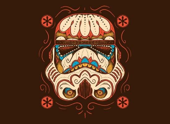 Art Sugar Skull Trooper T-Shirt   SnorgTees cool-pictures