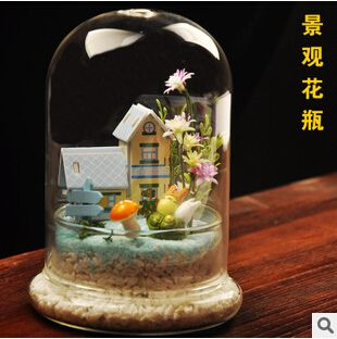 Creative DIY super beautiful flower immortalized transparent glass vase home fashion jewelry Micro Landscape