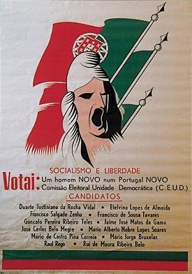 political  Portuguese propaganda poster