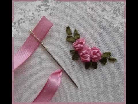 Easy beautiful ribbon roses