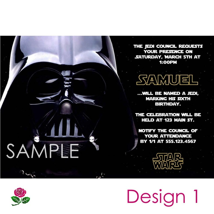Star Wars Invitation Printable, Birthday Party You-Print ...