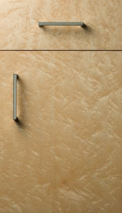 Metro door style with natural finish on birdseye maple for Birdseye maple kitchen cabinets