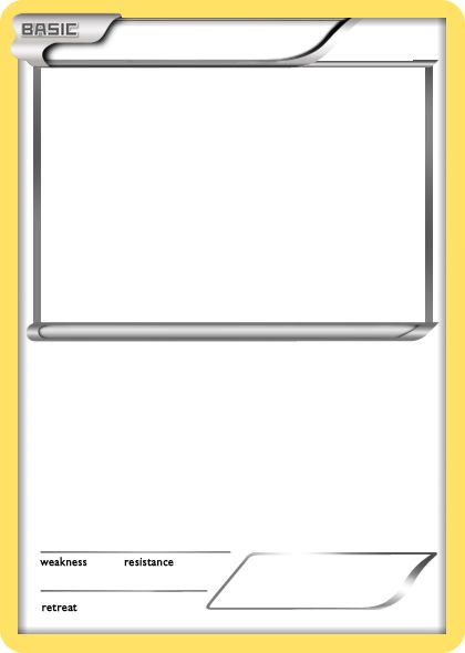 Blank Pokemon Card