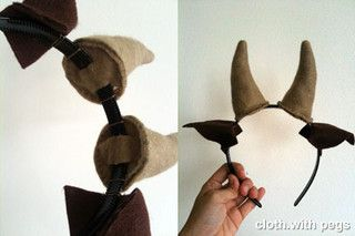 Goat horn and ears on a headband  #goatvet must make one