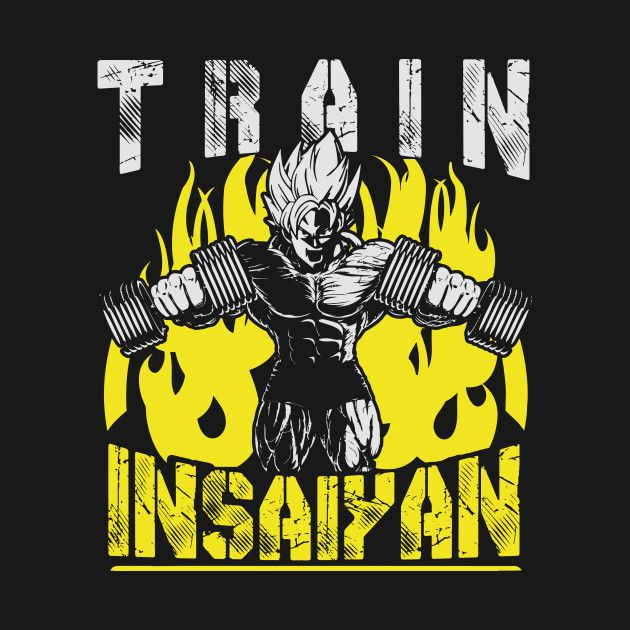 Check out this awesome 'TRAIN+INSAIYAN+%28Goku+Lifting+Dumbbells%29' design on @TeePublic!