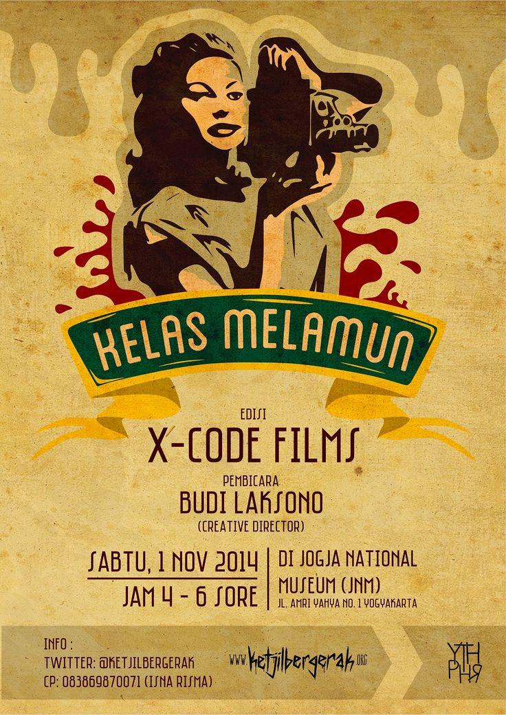 #KelasMelamun #10 edisi November bersama X-CodeFilms Jogja, dengan Creative Director-nya, Budi Laksono