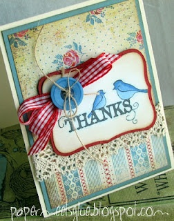 Such a sweet card using Labels Eight.: Meeting Glue, Cards Style, Cardmaking Galleries, Paper Meeting, Cards Ideasfabul, Thank You Cards, Cards Layout, Thanks You Cards, Ideasfabul Cards