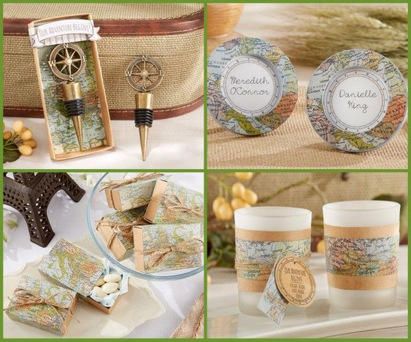 Destination and Travel Wedding Favors from HotRef.com