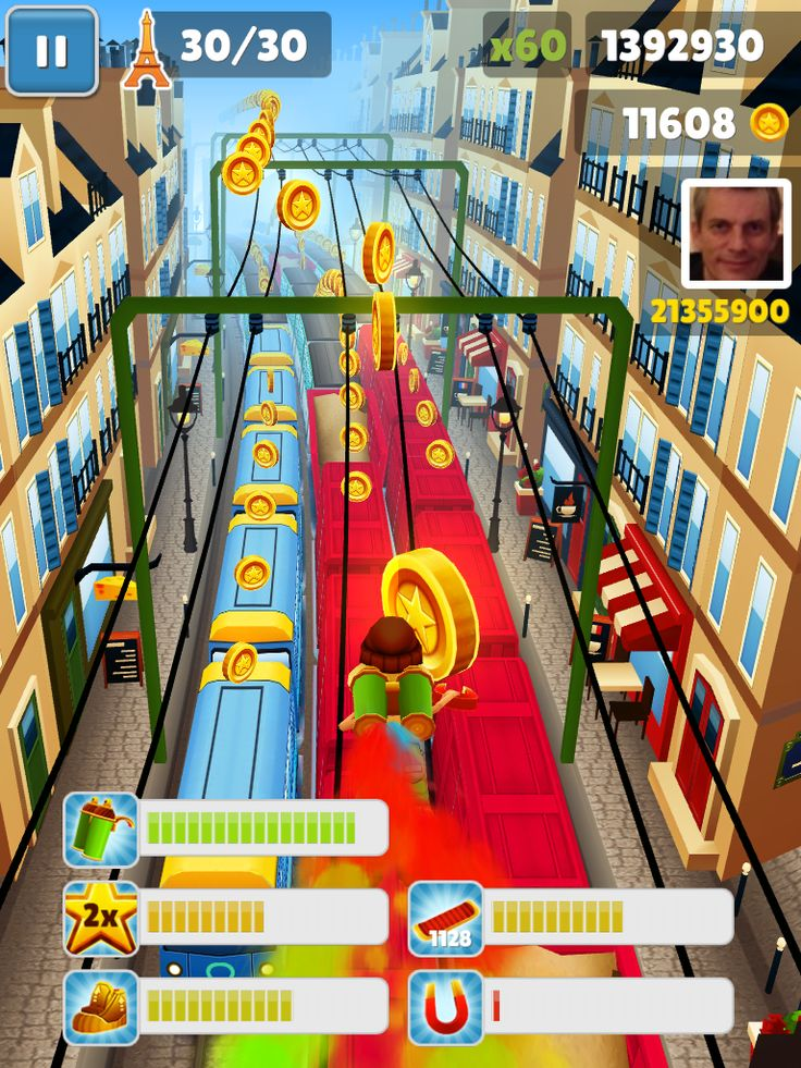 Five simultaneous powerups in Subway Surfers, now in Paris