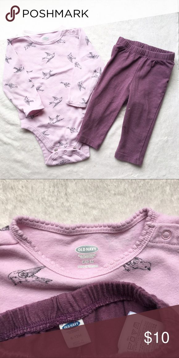 Old Navy Bird outfit Light purple bird onesie and matching purple pants. Normal wear, no stains or holes GAP Matching Sets
