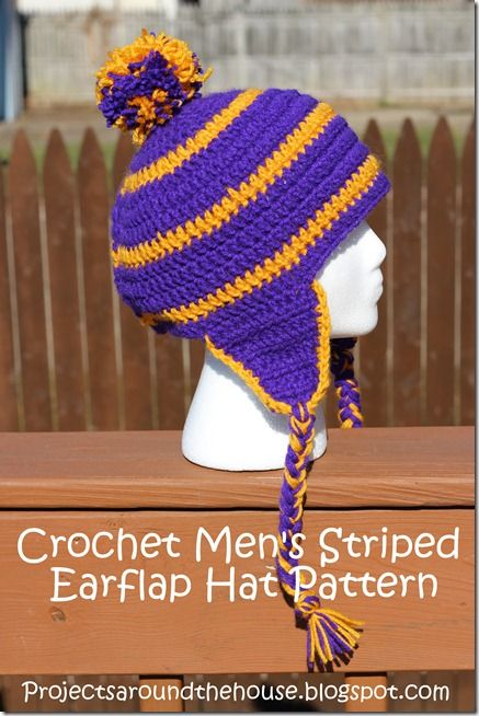 Owatonna Colors done this way: Crochet Men's Striped ...