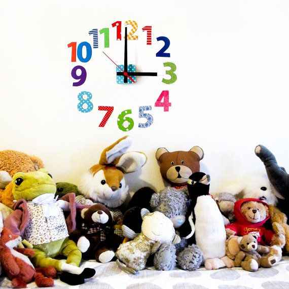 Our restickable wall clock '1-12 numbers' design by tinchDesignStudio, $65.00 USD  (from our etsy store)
