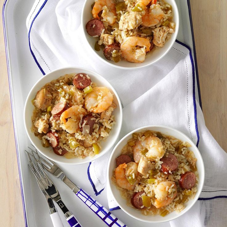 Gulf Coast Jambalaya Rice Recipe -As the stew of the South, jambalaya is a definite staple. For ages, home cooks have been making their own tweaks on the traditional recipe. This rendition is my favorite. —Judy Batson, Tampa, Florida