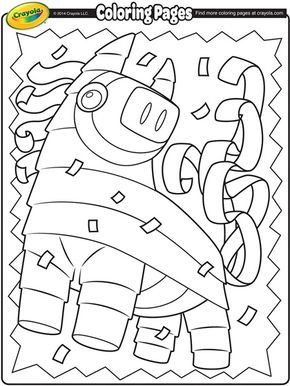 Color this playful piñata in celebration of Cinco de Mayo! | free printable coloring pages
