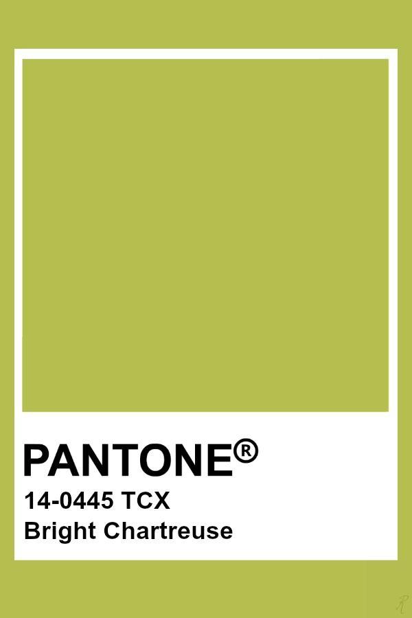 Pantone Bright Chartreuse Pantone Colour Palettes Pantone Green