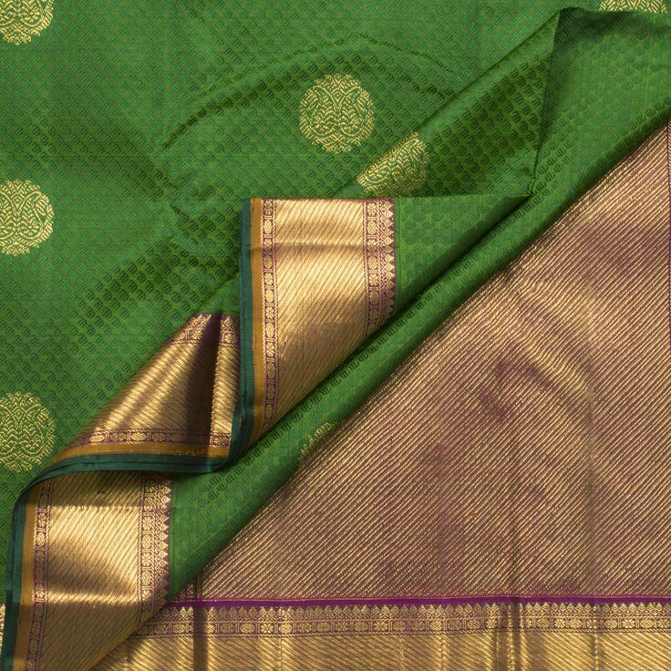 Kanakavalli Handwoven Kanjivaram Silk Sari 1003390 - Saris / Jacquard Kanjivarams - Parisera