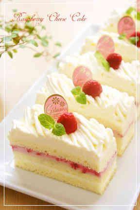 ラズベリーチーズモンブランショートケーキの画像