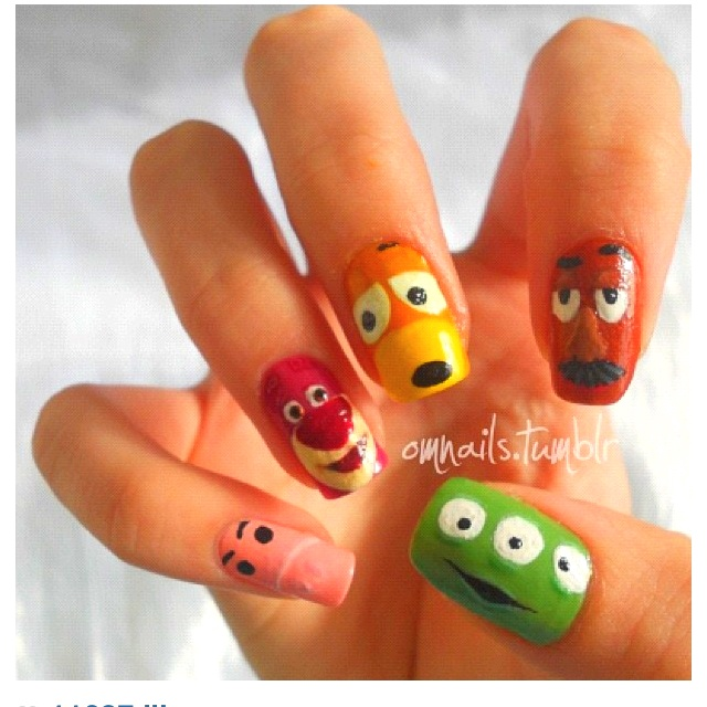 Toy story characters nail (: