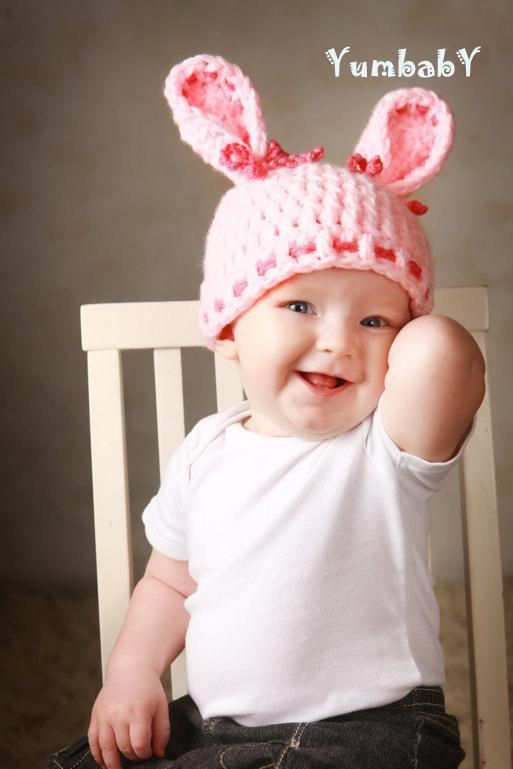 Baby Hats Bunny Hats Rabbit Hat Easter Photo Props Pink Bunny Ears Hat - http://www.babies-clothes.info/baby-hats-bunny-hats-rabbit-hat-easter-photo-props-pink-bunny-ears-hat.html