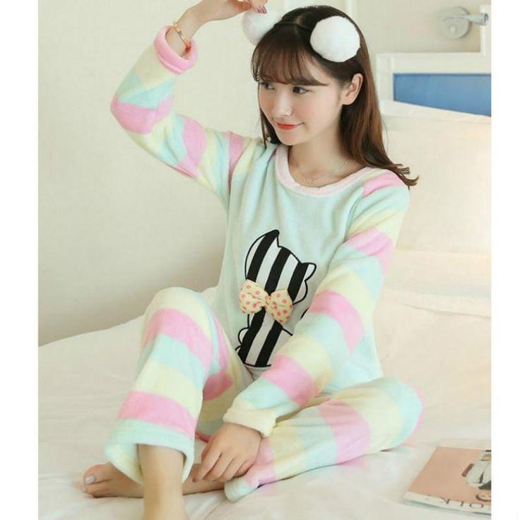 Animal Cartoon Pajamas  femme Spring Autumn Winter women pyjama set Cotton pajamas home clothes for women