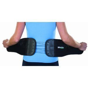 Mueller Adjustable Abdominal Back Support, Black, One Size by Mueller. $26.68. Unique one handed cinching system makes back and abdomen support adustment simple.