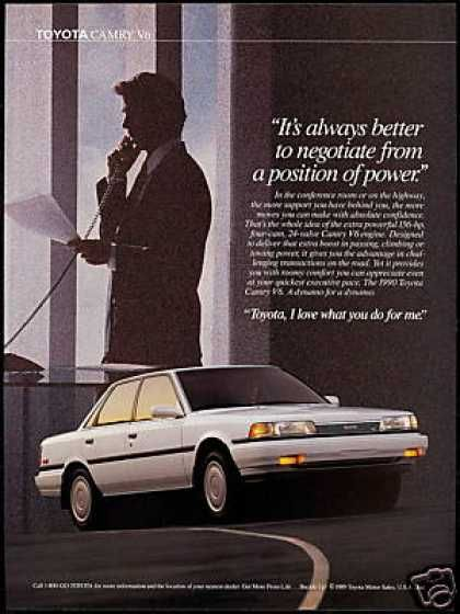 Toyota Camry V6 Photo Print Vintage Car (1990)
