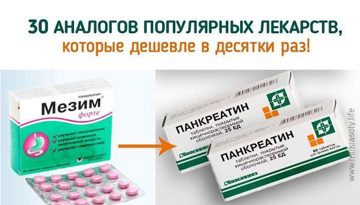 Кто сказал, что хорошие лекарства стоят дорого? Знаете ли вы, что у раскрученных препаратов есть более дешевые аналоги, которые им ничуть не уступают!