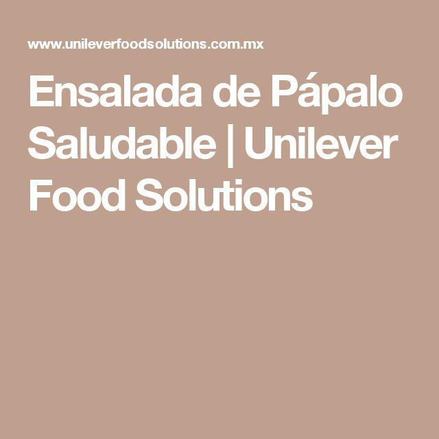 Ensalada de Pápalo Saludable | Unilever Food Solutions