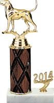 #Dog Wood #Column Trophy is A Classy Award to Present at Your Next Dog Show Competition. http://www.crownawards.com/StoreFront/TR1515.ALL.Trophies.Classic_Trim_Trophies.prod: Dogs Woods, Woods Columns, Dogs Show, Red Columns, Columns Trophy, Dog Show