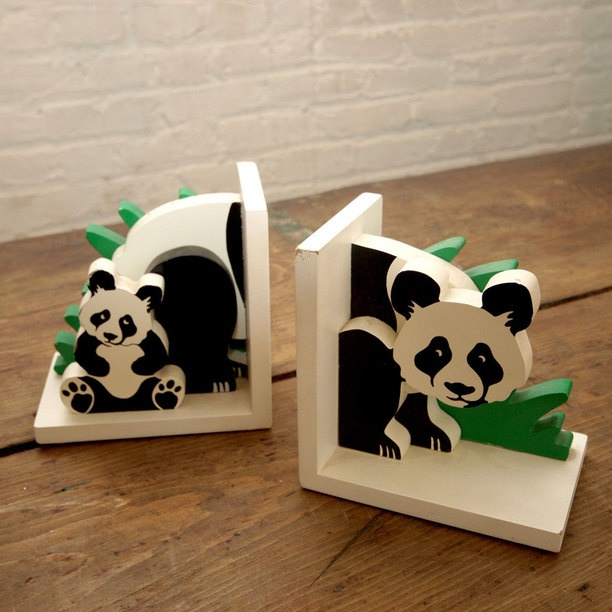 Panda Bookends Super Cute Panda Pinterest Panda