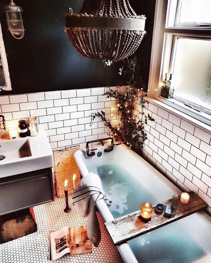 "MyDomaine on Instagram: ""Work-from-tub kind of day. 🛁 photo: @malmo_and_moss via @apartmenttherapy"""
