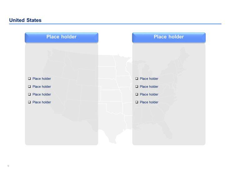 Editable Usa Map For Powerpoint Slide